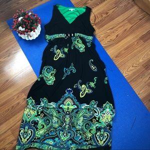 Sandra Darren Paisleys maxi dress